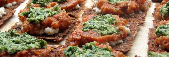 Hrustljavi pizza prigrizki