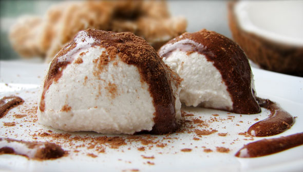 Vanilijev sladoled s kokosom