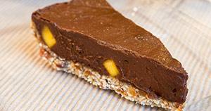 Čokoladna pita z mangom