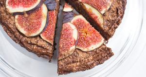 Figova pita s temno čokolado
