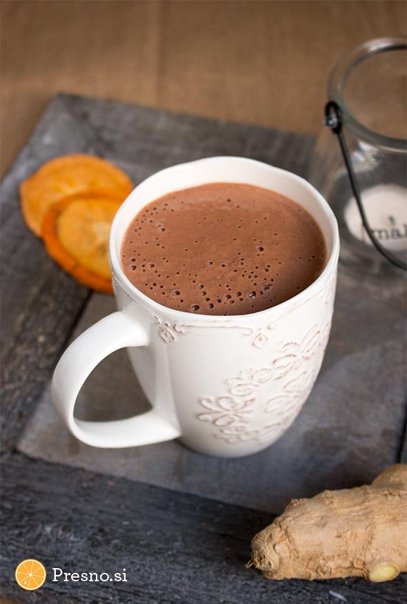 Vroča čokolada z ingverjem